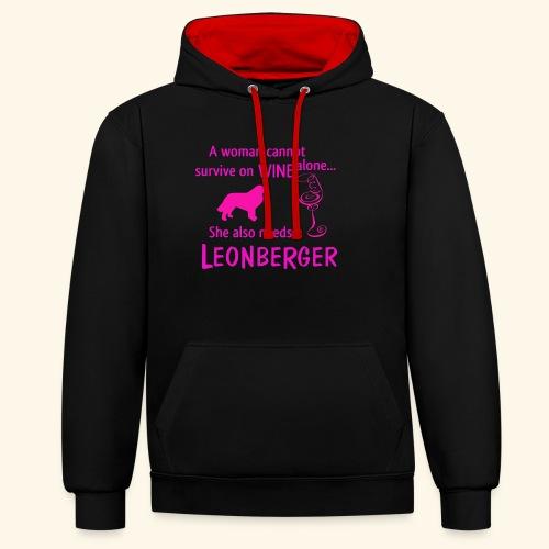 Wine&Leonberger - Kontrastluvtröja