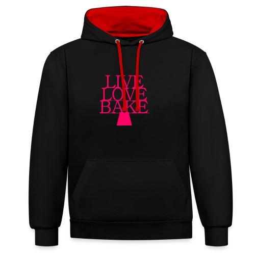 LiveLoveBake ekstra stor - Kontrast-hættetrøje