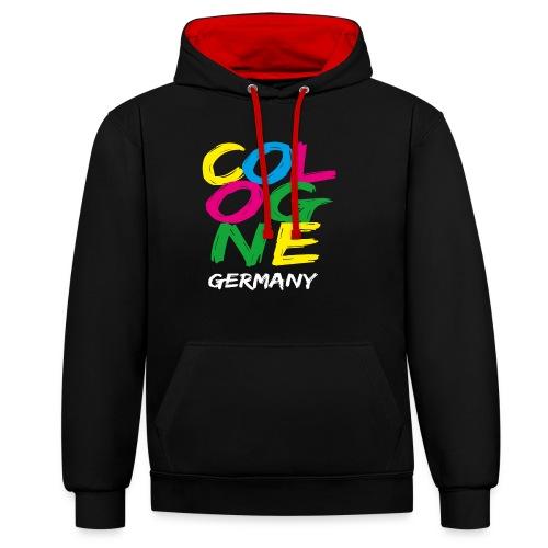 Colorful Cologne - Kontrast-Hoodie