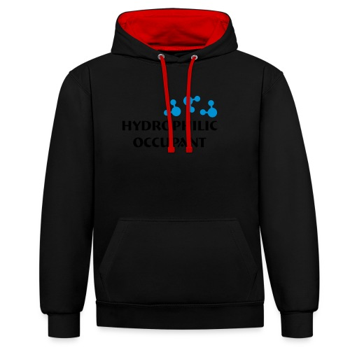 Hydrophilic Occupant (2 colour vector graphic) - Contrast Colour Hoodie