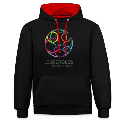 LESCERCLES Logo Colour - Contrast Colour Hoodie