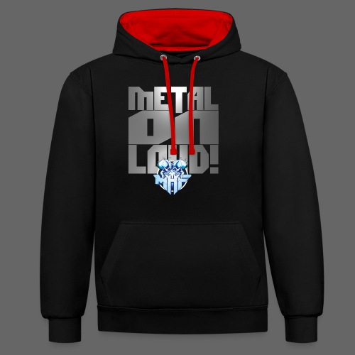 metalonloud large 4k png - Contrast Colour Hoodie