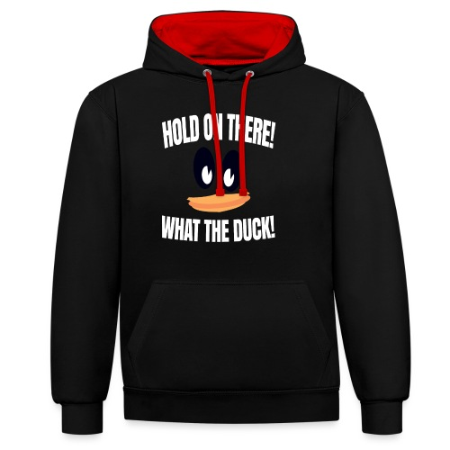 WhatTheDuck - Contrast Colour Hoodie