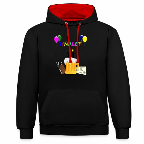 Finally 21 (2) - Contrast Colour Hoodie