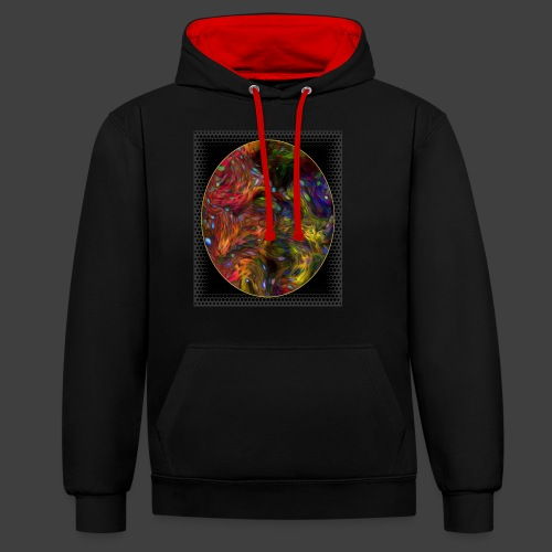 Who will arrive first - Contrast Colour Hoodie