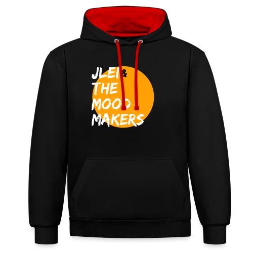 Jlei & The Mood Makers Bandlogo - Kontrast-Hoodie