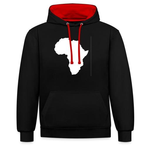 Africa Weiß - Kontrast-Hoodie