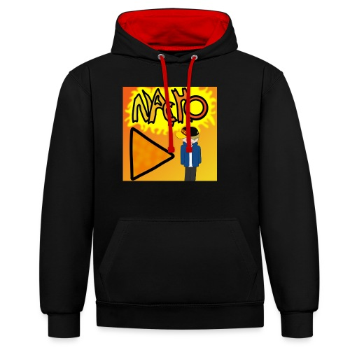 Nacho Title with Little guy - Contrast Colour Hoodie