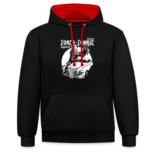 Zonen Zombie Supporter Shirt - Kontrast-Hoodie
