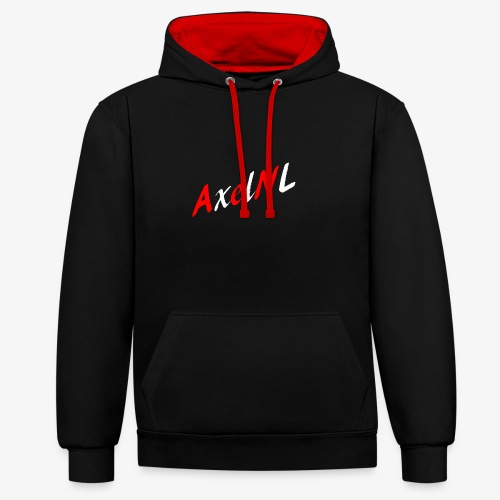 AxelNL - ROOD - Contrast hoodie