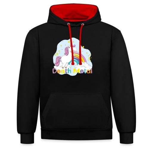 unicorn death metal - Contrast hoodie