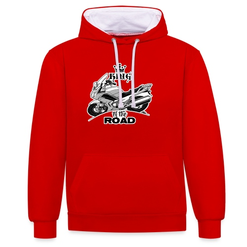 0884 FJR KING of the ROAD - Contrast hoodie