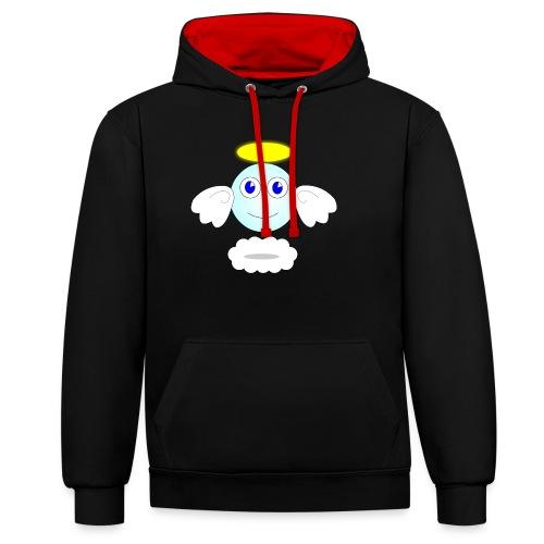 puff logo - Felpa con cappuccio bicromatica
