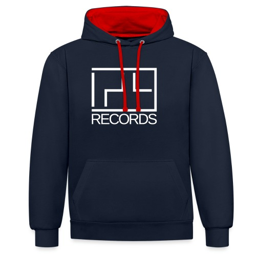 129 Records - Contrast Colour Hoodie
