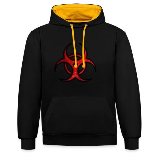 iSubdes Gaming Logo - Sudadera con capucha en contraste