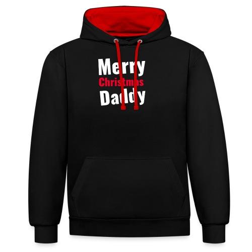 Merry Christmas Daddy - Kontrast-Hoodie