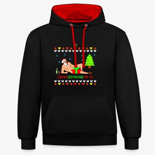 Sexy Romantic Santa Ugly Xmas - Kontrast-Hoodie