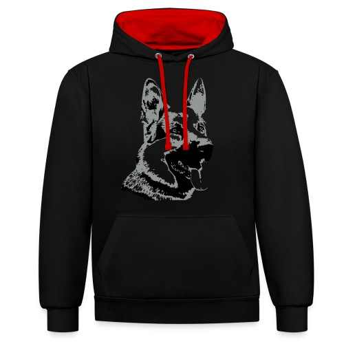 Dessin Chien Berger allemand 2 couleurs - Sweat-shirt contraste