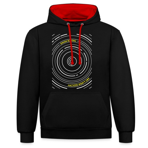 Onion Routing - Contrast Colour Hoodie