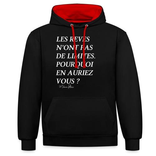 LES REVES N'ONT PAS DE LIMITES - Sweat-shirt contraste