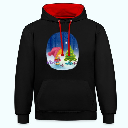 Christmas 1 - Contrast Colour Hoodie