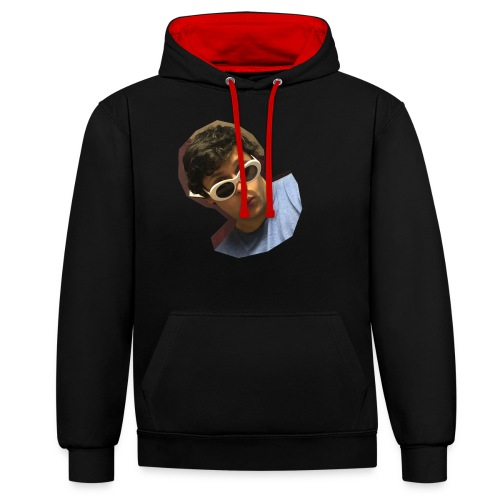 Handsome Person on Clothing - Kontrast-Hoodie