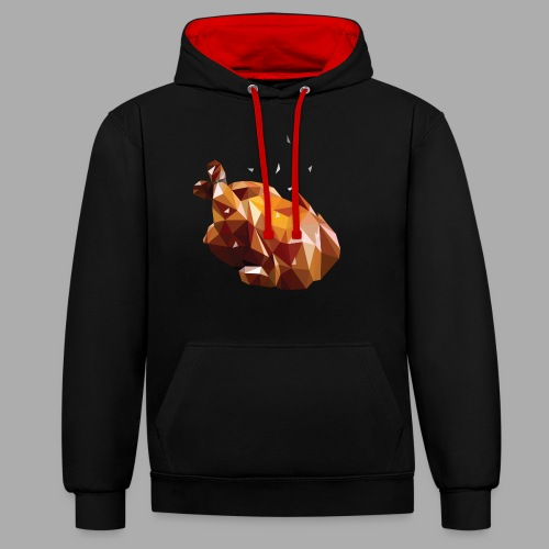 Turkey polyart - Contrast Colour Hoodie