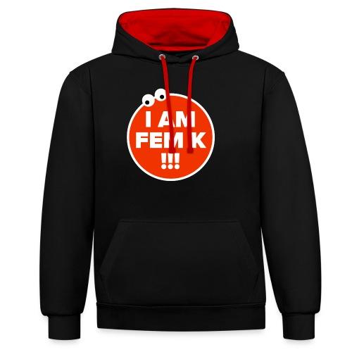 I AM FEM K - Contrast Colour Hoodie