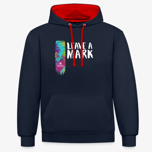 Leave a mark - Contrast Colour Hoodie