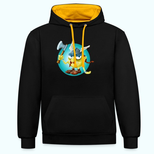 Gnome 1 - Contrast Colour Hoodie