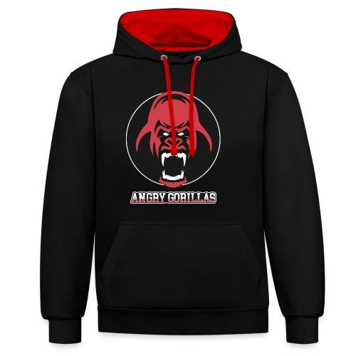 AngryGorillas BS (LS26) - Kontrast-Hoodie