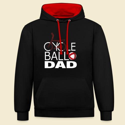 Radball | Cycle Ball Dad - Kontrast-Hoodie