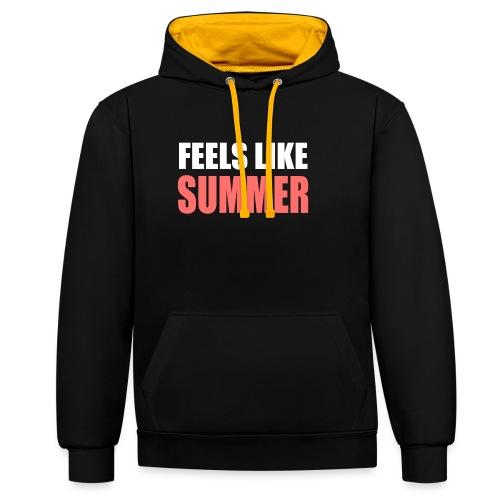 FEELS LIKE SUMMER - Kontrast-Hoodie