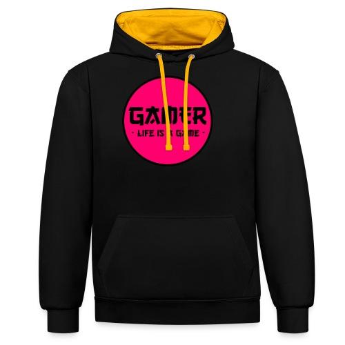 Gamer Life is a Game - Kontrast-Hoodie