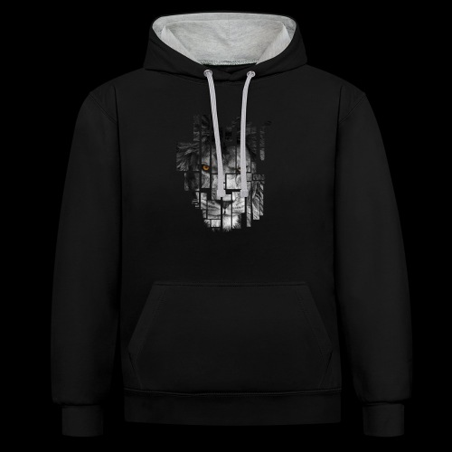 Pixel Lion Tattoo Inspire - Contrast Colour Hoodie