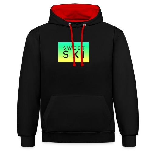 Sweet Ski Color Square - Kontrast-Hoodie