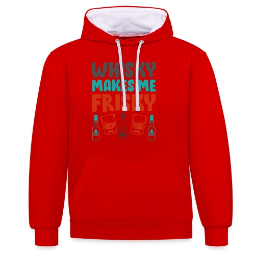 Whiskey Gift Idea - - Contrast Colour Hoodie