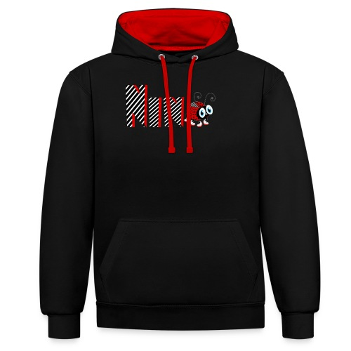 9nd Year Family Ladybug T-Shirts Gifts Daughter - Kontrast-Hoodie