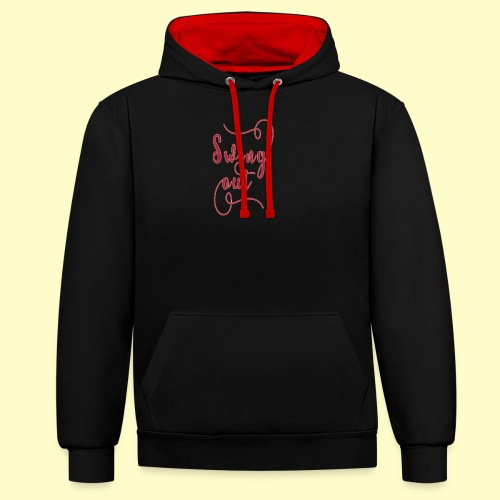 Swing Out Lindy Hop Vintage - Swing Retro - Kontrast-Hoodie