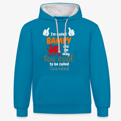 I'm Called BAMPY - Cool Range - Contrast Colour Hoodie