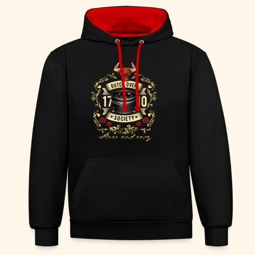 Grill-T-Shirt Dutch Oven Society - Geschenkidee! - Kontrast-Hoodie