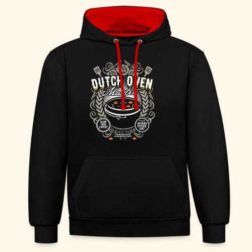 Dutch Oven T Shirt Dutch Oven Master - Kontrast-Hoodie