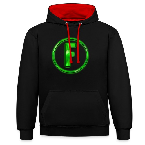 FLONIC'S MERCH!!! Mit echtem Flonic Logo!!! - Kontrast-Hoodie