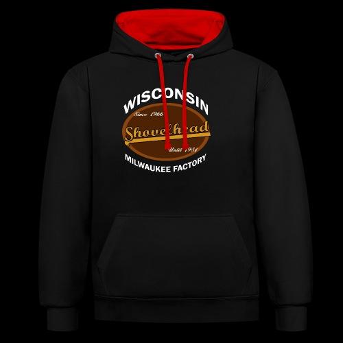 Milwaukee Shovelhead - Kontrast-Hoodie