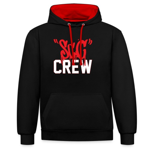 ScC CREW Logo Rood - Contrast hoodie