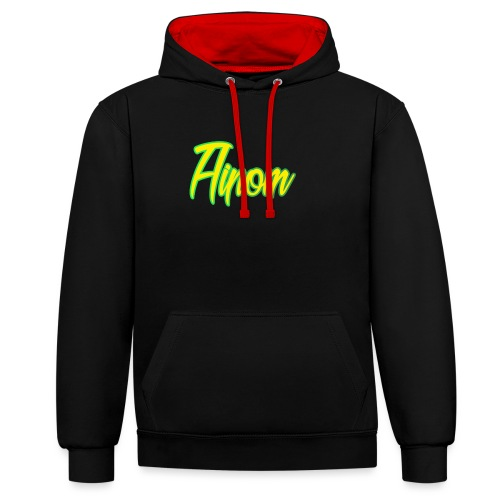 aipomzolo png - Contrast Colour Hoodie