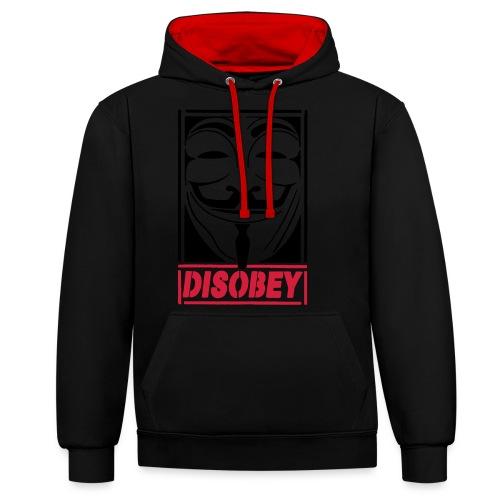 disobey - Kontrast-hættetrøje
