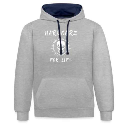 H4rdcore For Life - Contrast Colour Hoodie
