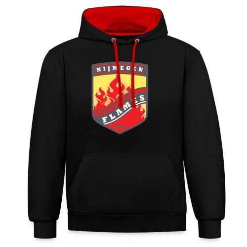 t shirt black - Contrast hoodie