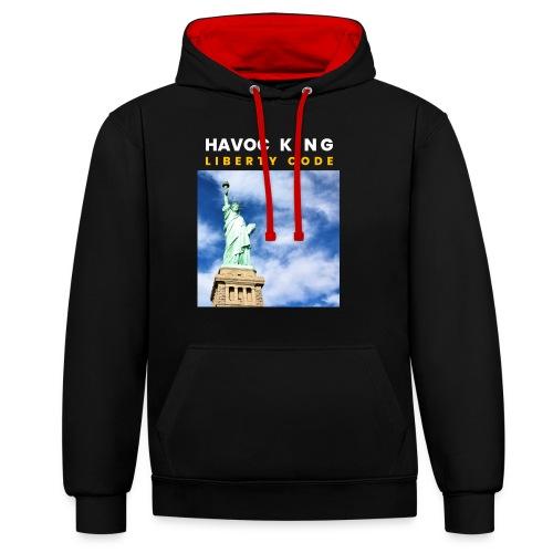 Havoc King Cover - Kontrast-Hoodie